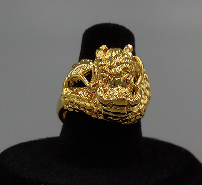 Super Gold Men's Ring Real Solid 14K Yellow Gold Jewelry