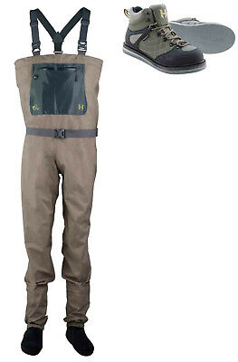 Greys Strata CTX Stocking Foot Breathable Fly Chest Waders + Free Wading Boots