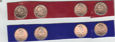 2009 P & D Lincoln Cent 8-Coin satin from US Mint Set UNC COPPER LOW MINTAGE