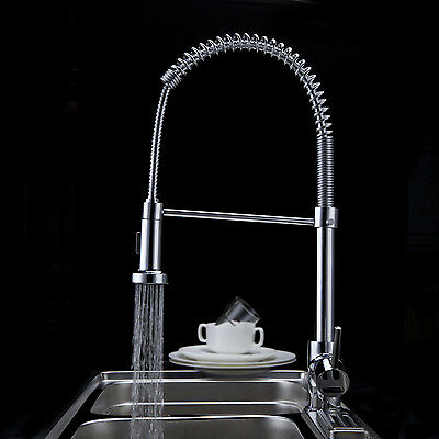 360° Stainless Steel Lead Free Solid Spring Coil Style Pull Out Kitchen Faucet