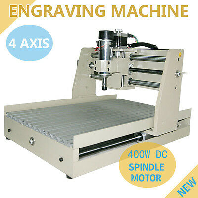 US 4 AXIS 400W CNC ROUTER 3040 ENGRAVER ENGRAVING MACHINE CARVING 3D CUTTER in