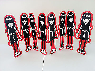 Emily The Strange 2007 Cardboard Promotional Counter Display Stand Cutout