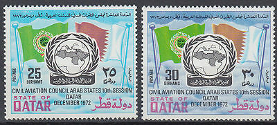 Qatar 1972 ** Mi.536/37 Zivilluftfahrt Civil Aviation