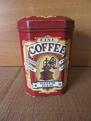 COLLECTABLE COFFEE TIN - SUPREME BLEND FIND COFFEE by THE NOSTALGIA COLLECTION