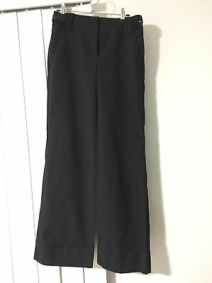 Cue Black And Grey Pinstripe Wide Leg Pants Size 8