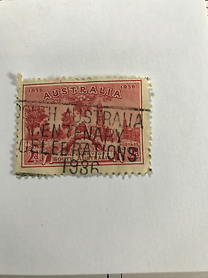 1936 2d RED Centenary of South Australia stamp - Used