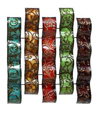 Home Decor Colorful Iron Embossed Botanical Metal Frame Wall Sculptures Textured