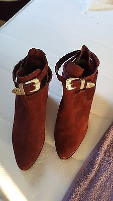Ladies  New size 8 Suede Leather Ankle Boots by Charlton London