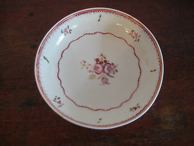 English Late 18Th Century Saucer Bowl Pretty Hand Painted Floral