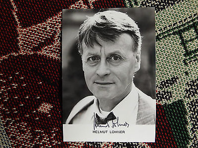 "HAND SIGNED AUTOGRAPH 6"" x 4"" PHOTO CARD - HELMUT LOHNER"