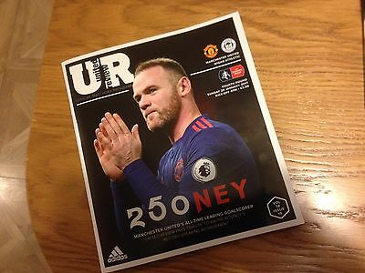MANCHESTER UNITED MAN UTD  v WIGAN ROONEY 250 SPECIAL EDITION PROGRAMME 2016/17