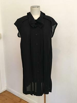 Issey Miyake Fete Women's Black Blouse Top Size 2