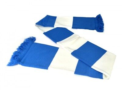 The Long John Bar Scarf White and Blue Winter Match Day Football Fan Unisex