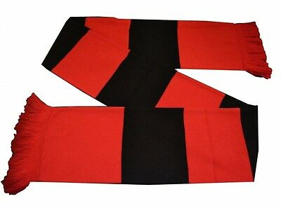 The Long John Bar Scarf Red and Black Winter Match Day Football Fan Unisex