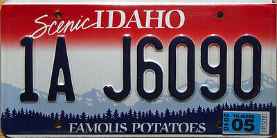 Idaho SCENIC Embossed License Plate - FAMOUS POTATOES