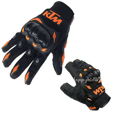 Mens Cycling Full Finger Gloves Motocross Motocycle Off-road Bike Mitts M-XXL