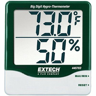 Extech 445703 Big Digit Kitchen Dining Features Hygro-Thermometer with Min/Max