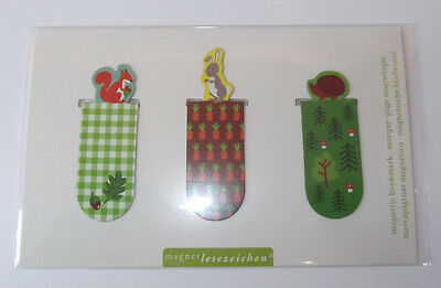 e.w Magnetlesezeichen Wald + Wiesentiere Hase Igel Magnet Kinder Mitgebsel Moses