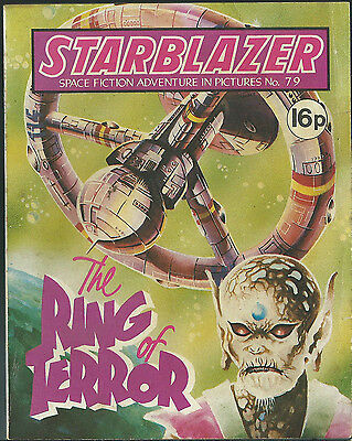 The Ring Of Terror,no.79,starblazer Space Fiction Adventure In Pictures,comic