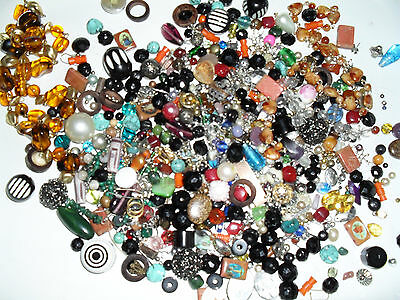 Clearout Bag Beads/jewellery Making Pieces Apporox 500G Bag