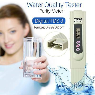 TDS Digital Water Meter Purity Quality Tester TEMP PPM Test Filter Pen Stick UK