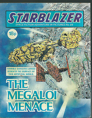 The Megaloi Menace,no.94,starblazer Space Fiction Adventure In Pictures,comic