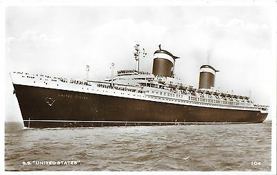 RP Card UNITED STATES LINES S.S. UNITED STATES - Unposted