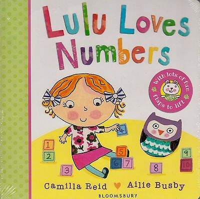 Lulu Loves Numbers BRAND NEW BOOK by Camilla Reid (Board book, 2015)
