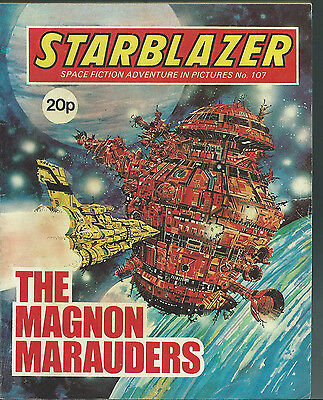 The Magnon Marauders,no.107,starblazer Space Fiction Adventure In Pictures,comic