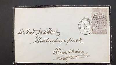 Victorian Cover   Fiscal Penny Foreign Stamp Used Postally 1888
