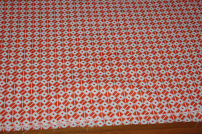 Patchwork Fabric 100% Cotton Orange and White by Claire Blocks.