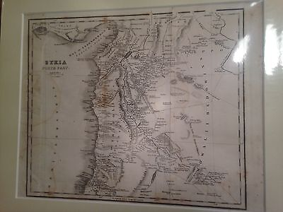 Original 1830s map of Syria - northern part