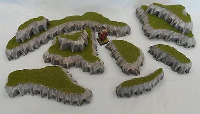 Pack Of 7 Wargaming Hillocks Scenery Suitable For Warhammer Warmachine Malifaux