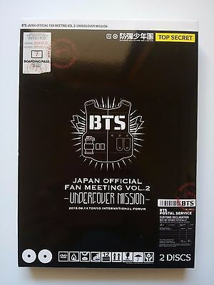 BTS Undercover Mission Vol.2 Fanmeeting DVD + Booklet Japan Official FanClub