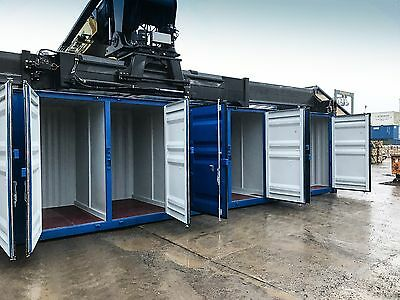 40' Shipping Container with 8 Individual Storage Bays