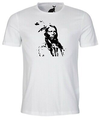 Crazy Horse Indian Chief Sketch Art Mens T Shirt Native American America Tribe