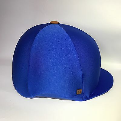 Royal Blue Lycra  Riding Hat Cover Silk Equestrian Eventing Cross Country