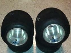 Complete Set Burris SS-33A Mounted Cut and Sized on Q+ Douglas Wheels Go Kart
