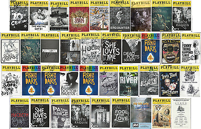 Buy 4 Get a 5th Free (Lowest Price) -- Broadway Cast Signed Theatre Playbills