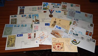 RSA -  SOUTH AFRICA TO ENGLAND Airmail Covers 1970s to 1980s (59) STAMPS