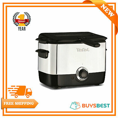 Tefal 150°C to 190°C Adjustable Thermostat Deep Mini fryer - Black - FF220040
