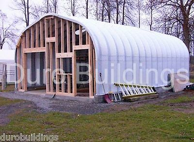 DuroSPAN Steel 25x26x16 Metal Building Storage Barn Workshop Open Ends DiRECT