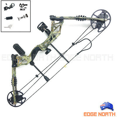 30-60lbs Compound Bow Pro Hunting Target Arrows Archery Deluxe Kit Camo