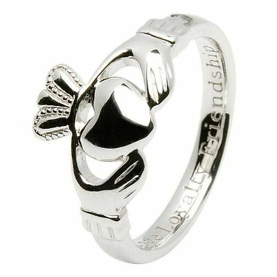Silver Claddagh comfort fit ring sizes  5 rings in sizes  4.5/5.5/6.5/7.5/8