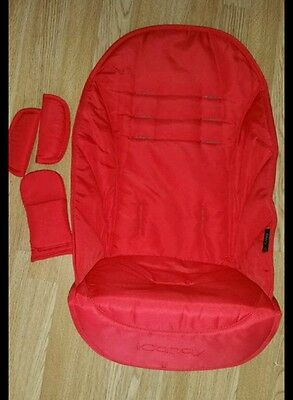 iCandy Strawberry 2 new seat liner n safety belts pads in red