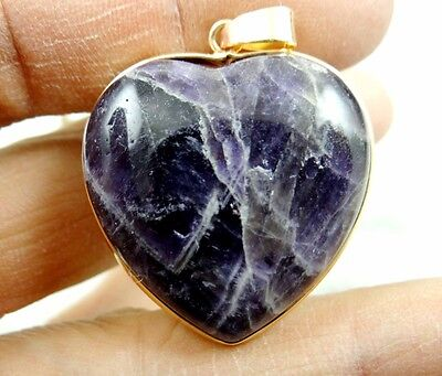 33*32MM Natural picture amethyst  agate pendant Gemstone Loose Beads A91
