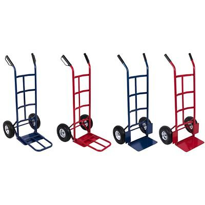 Hand Truck Blue Red Standard Large Heavy Duty Industrial Sack Trolley Cart