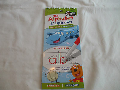 Beaver Books English & French Alphabet Wipe Clean Pad Ages 3+