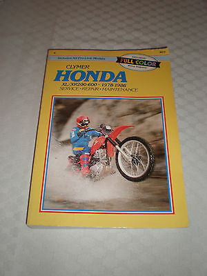 Clymer Honda Xl/xr200-600, 1978 -1986 Service Repair Manual