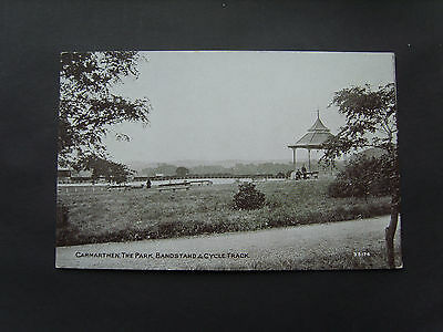 Carmarthenshire: Bandstand & Cycle Track, The Park, Carmarthen - Unused